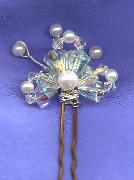 Crystal Deco Drop  Bridal hair pin