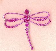 Swarovski Crystal Dragonfly pin