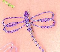 Tanzanite Swarovski Crystal Dragonfly Pin