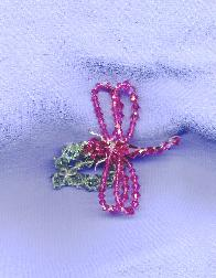 Swarovski Dragonfly and Leaf Pin