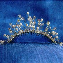 Bridal Tiara, Damselfly Studio, Headpiece, wedding accessories, bridal comb, headpiece comb, silver comb, crystal headpiece, pearl and crystal headpiece