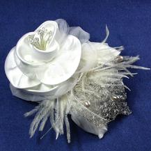 Satin Rose Fascinator, Retro, Vintage look Fascinator
